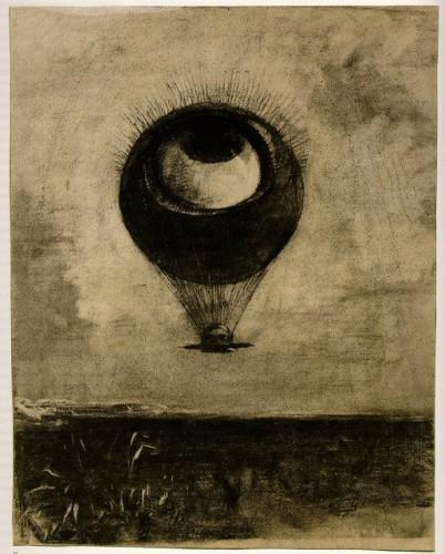 Odilon Redon - L'oeil-ballon, 1878.jpg