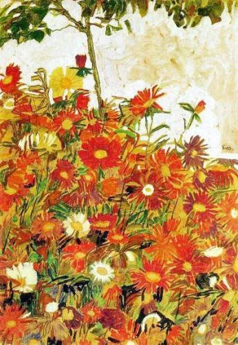 Egon Schiele, Champ de fleurs 1910.jpg