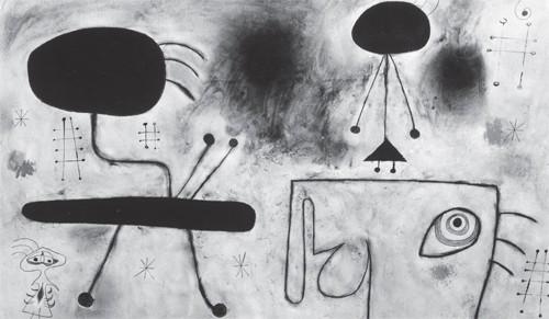 Joan Miro femmes rêvant de l'évasion 1942.jpg