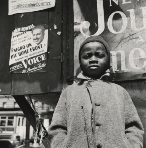 Gordon parks Harlem Newsboy, Harlem, New York, 1943.jpeg