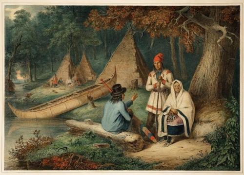 Cornelius David Krieghoff. Indian_Wigwam_in_Lower_Canada_(1848_).jpg