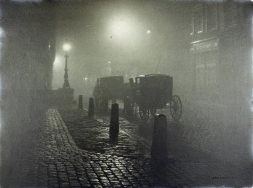 Henri Berssenbrugge • Calèche et pavés la nuit,1910n.jpg