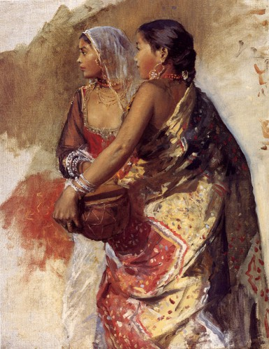 Edwin Lord Weeks Sketch, Two Nautch Girls, . .jpg