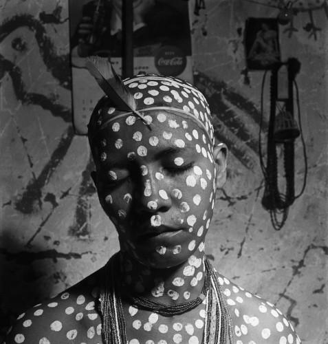 jose medeiros A novice painted, Initiation Ritual girls of San Salvador, Brazil, 1951.jpg