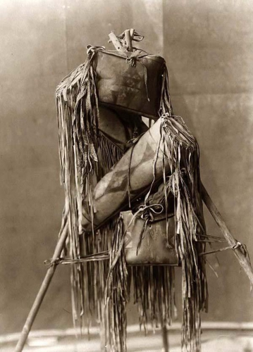 Edward S Curtis 19010 Four Piegan Indian Medicine Bags.jpg