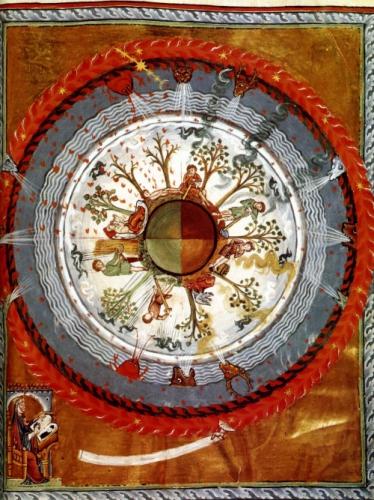 Hildegarde von bingen les énergies cosmiques sur la terre 1240 Lucques Italie.jpg