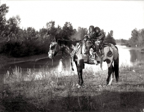 Richard Throssel Crow children on a horse.jpg