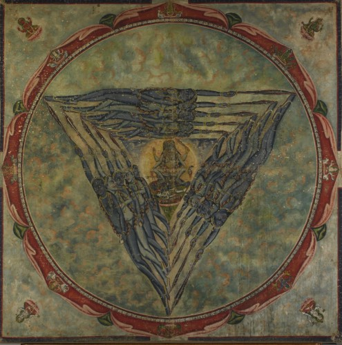 Kali Yantra, painting on cotton, late 19th century, Bengal School, 92 x 92 cm (British Museum, London)..jpg
