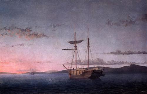 Fitz Henry Lane - Lumber Schooners at Evening on Penobscot Bay, 1860.jpg