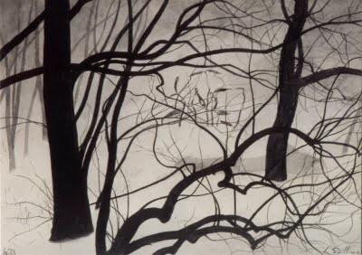 Léon Spilliaert 2_ Jeunes pousses parmi les arbres (1933).jpg