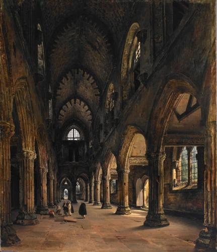 Louis Daguerre Louis Intérieur de Rosslyn Chapel - 1824.jpg