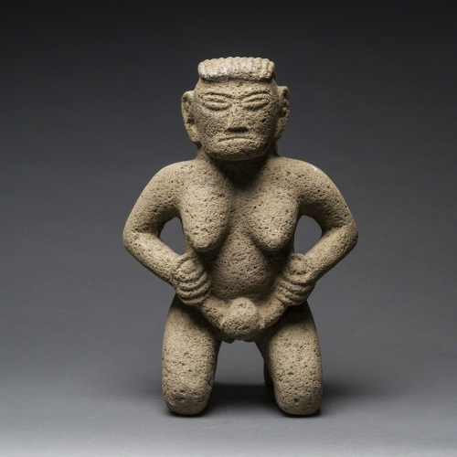 Unknown Pre-Columbian, 'Basalt Figure of a Woman Giving Birth',.jpg