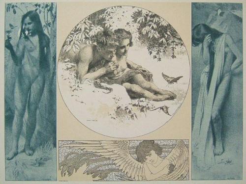 """Original Lithograph """"Allegorien"""" 1898 Koloman Moser.jpg"""