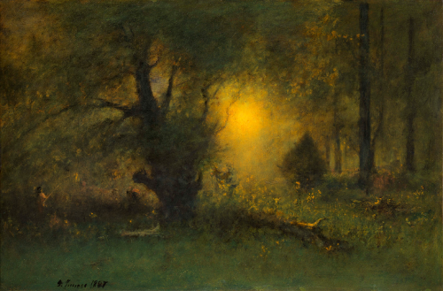 GEORGE inness Sunrise in the Woods, 1887.PNG