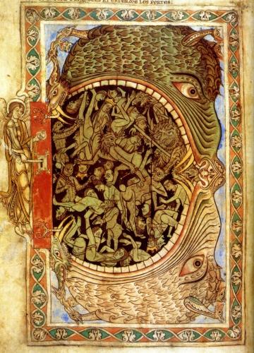 l'entrée de l'enfer - Psautier d'henri de blois fol_-39-winchester-grande-bretagne.jpg