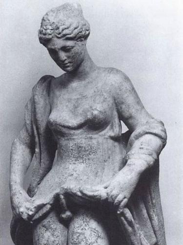 Aphroditos est le même dieu qu'Hermaphrodite, nom signifiant « Aphroditos avec la forme d'hermès Rome antique.jpg