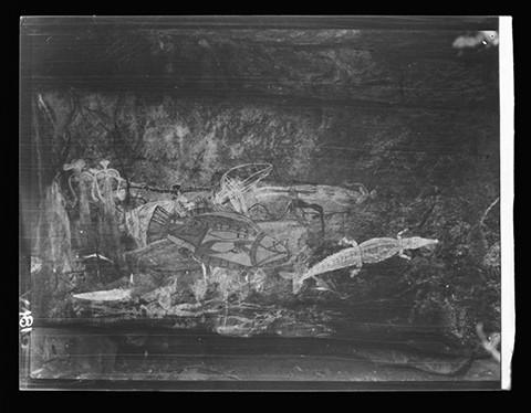 Dr Herbert Basedow Rock paintings at Kunumidjara, Liverpool River area, Northern Territory 1928.jpg