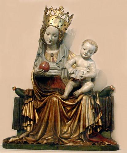 Vierge gothique de maître Seeon 1430n Chiemgau allemagne ..jpg