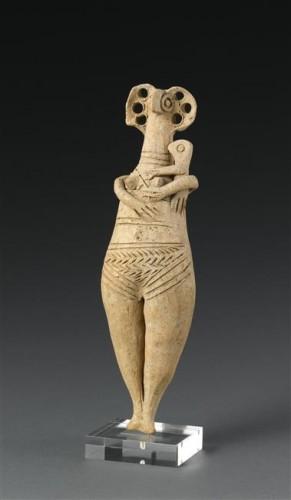 Female and Child Figurine. 1500-1200 BCE. Tyre, Lebanon..jpg