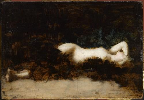 Jean-Jacques Henner, Femme nue couchée dans une fourrure, vers 1892.jpg