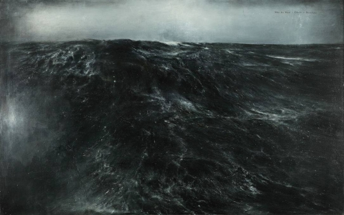 Thierry De Cordier, MER MONTÉE , 2011 huile et encre.jpg
