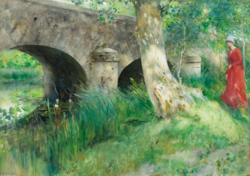 Carl Larsson -The Bridge in Grez.jpg