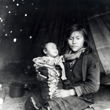 Richard S Finnie Dogrib baby in arms of sister - Ft.Rae - 1939 - photo Richard S. Finnie – Hudson's Bay Co Archives .jpg