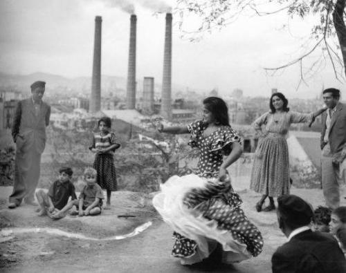 Francesc Català Roca La Chunga en Montjuic 1955.jpg