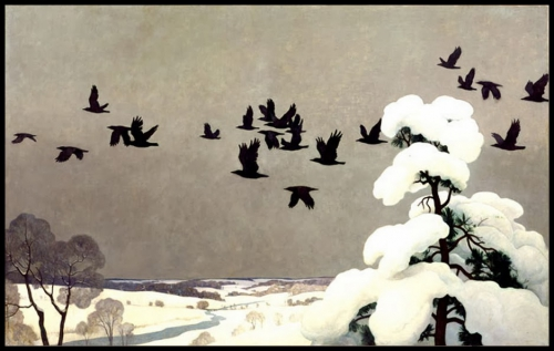 Newell Convers Wyeth crows in winter.jpg